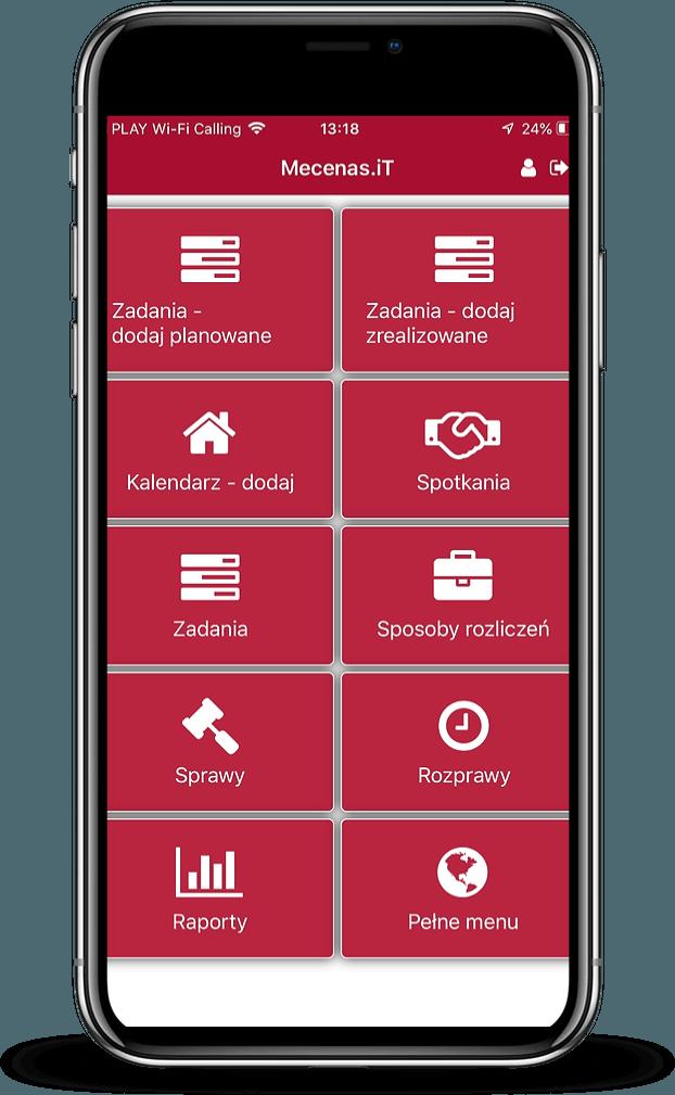 Aplikacja mobilna systemu Mecenas.iT