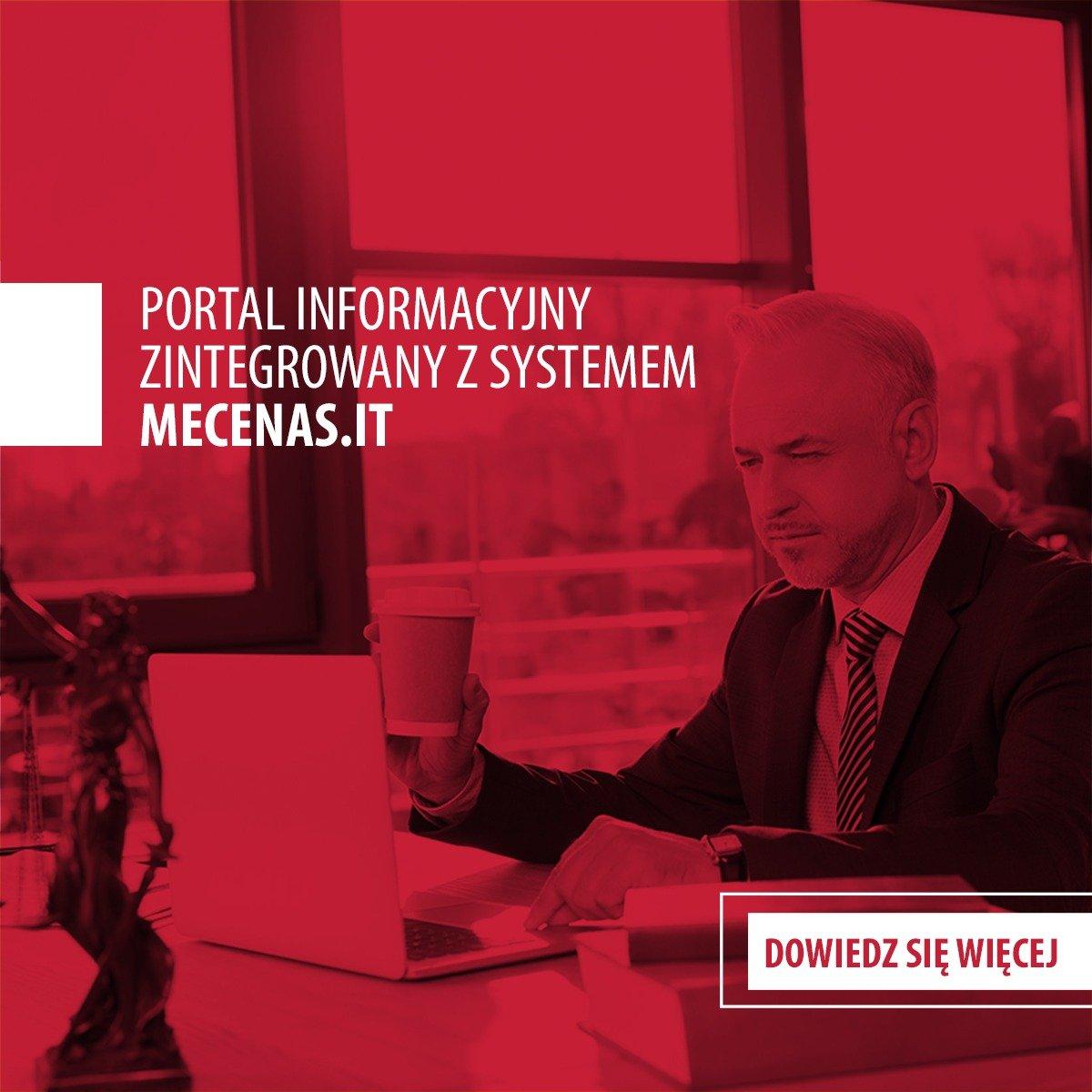 Portal Informacyjny zintegrowany z systemem Mecenas.iT