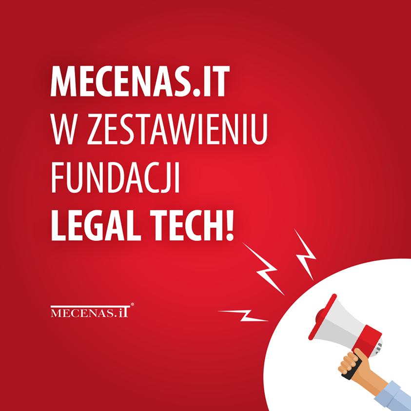 Fundacja LegalTech Polska umieściła systemy Mecenas.iT oraz Syndyk.iT w swoim katalogu